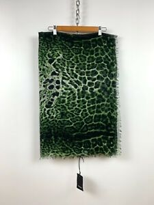 RRP995$ Yves Saint Laurent Leopard-Print Wool&Cashmere Scarf