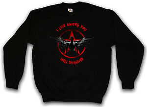 Pullover Sweatshirt Sweater True Detective Disguised Well Satan 666 Aleister tEUwx