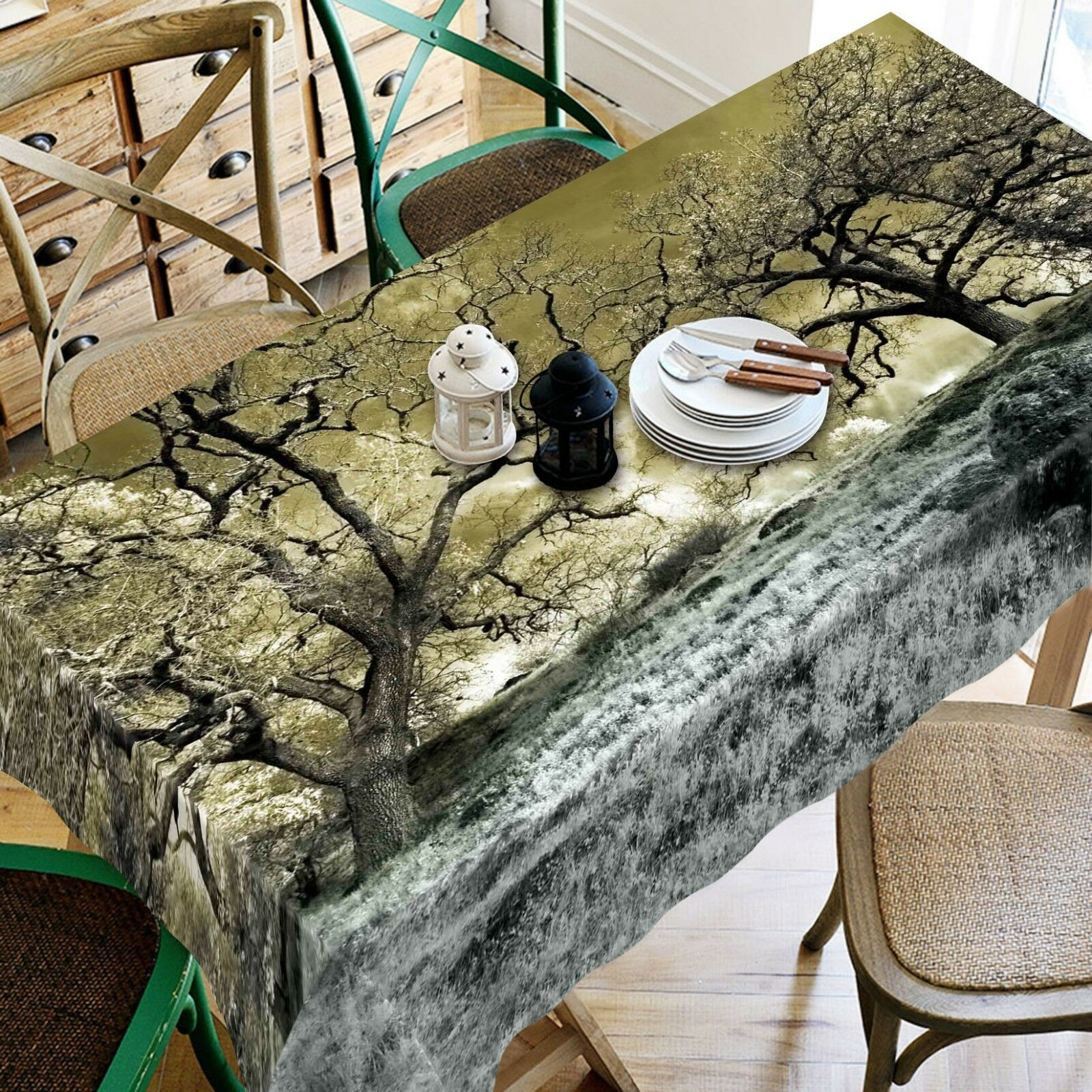 3D Painting Tree 06 Tablecloth Table Cover Cloth Birthday Party Event AJ Jenny