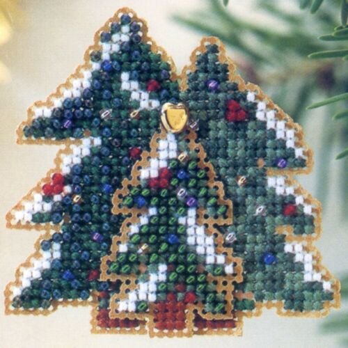 Winter Forest Beaded Cross Stitch Kit Mill Hill 2002 Winter Holiday