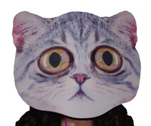 Details About Womens Mens Adult Big Kid Giant Head Cat Kitten Mask Halloween Costume S M L New