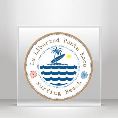 Decals Stickers travel Surf La Libertad Punta Roca beach  A19 3ZZ54