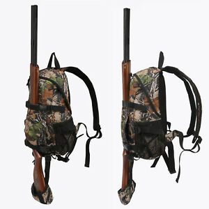 Tourbon-Hunting-Backpack-Gun-Rifle-Carrying-Holder-Molle-Bag-Daypack-Camo-Camp
