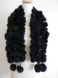 Echarpe foulard en fourrure de lapin rabbit noire neuf ladydjou   eBay bd0920fe425