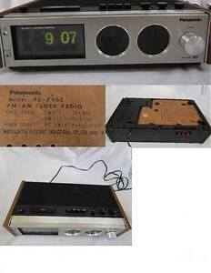 vintage panasonic rc 7462 flip numbers clock w am fm alarm clock radio ebay. Black Bedroom Furniture Sets. Home Design Ideas