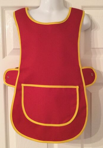 Wholesale Job Lot 20 Brand New Kids Tabard Aprons Red Clothes Craft Toddler