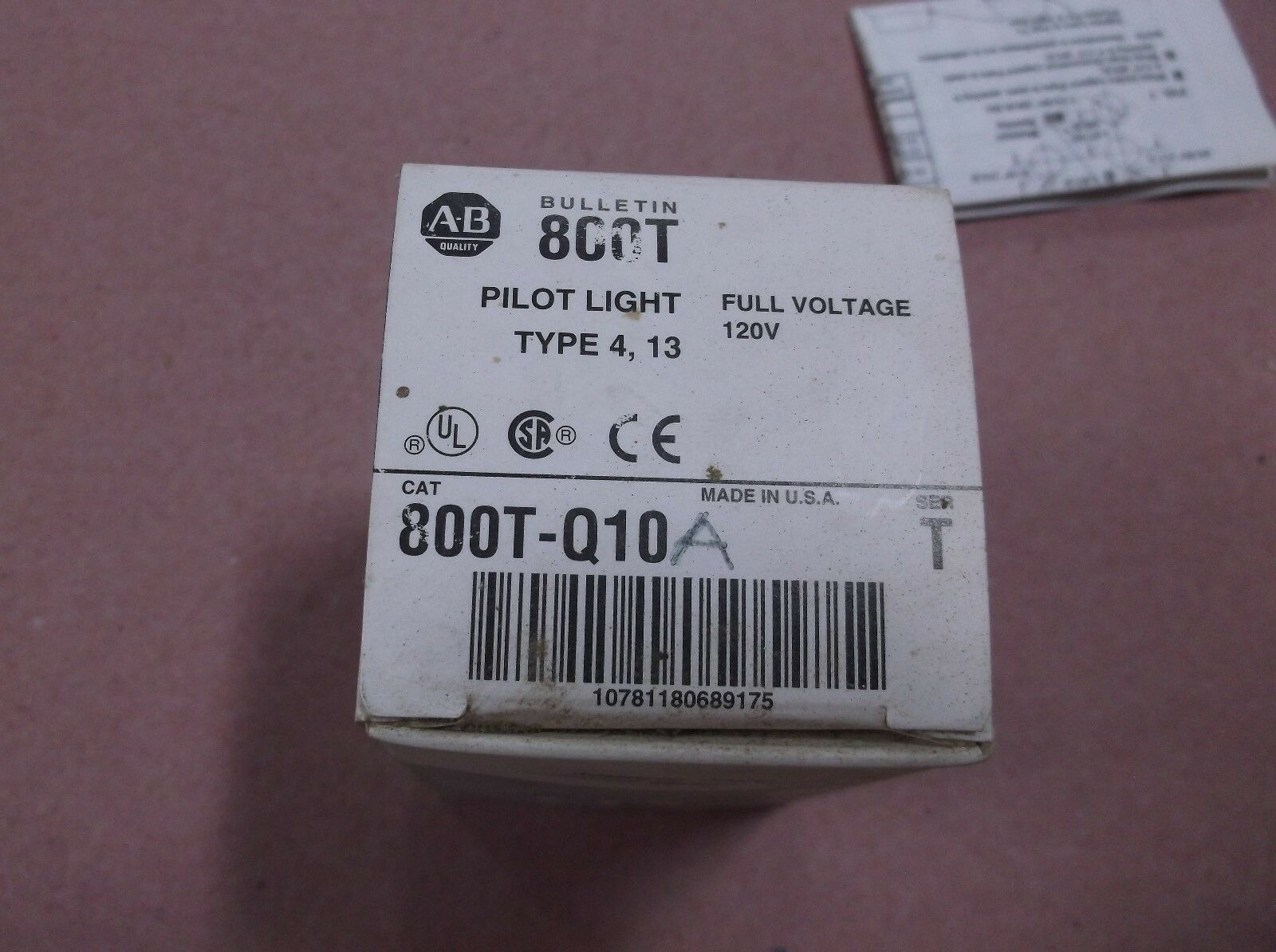 Allen Bradley Bradley Allen 800T-Q10R Serie T Piloto-Ámbar 2bd01a