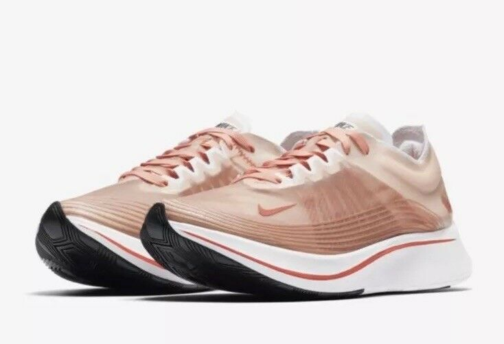 Nike Women's Zoom Fly SP Dusty Peach White Running shoes 6.5 Sneakers AJ8229 200