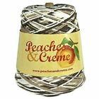 Peaches & Creme Cream 100 Cotton 4 Ply 14 Oz Cone Yarn Dishcloth Your Choice Chocolate Milk - 01020