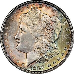 1887-P-USA-MORGAN-SILVER-DOLLAR-NGC-MS64-UNC-CHOICE-COLOR-GEM-BU-TONED-DR