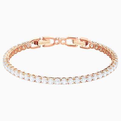 Swarovski Tennis Bracelet White Medium Rose Gold Plating 5464948
