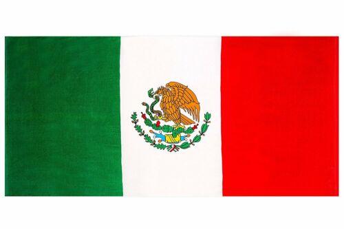 """Mexican Flag Print Beach Towel 100/% Cotton 28/"""" x 59/"""" new"""