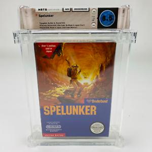Spelunker - NES Nintendo Broderbund 1987 Complete 5 Screw Hangtab WATA 8.5 CIB