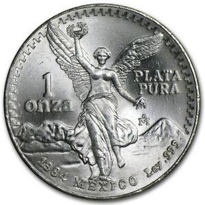 1984-Mexico-1-oz-Silver-Libertad-BU-SCARCE-YEAR-Nice-Coin