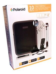 polaroid 10 pc 7 8 tablet accessories case earbuds car charger more make offer ebay. Black Bedroom Furniture Sets. Home Design Ideas