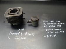 90 1990 SKIDOO BOMBARDIER ROTAX SNOWMOBILE ENGINE MOTOR CYLINDER JUG PISTON #10