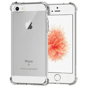 For Apple Iphone Se 5s 5 Case Silicone Clear Shockproof Rubber