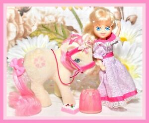 My-Little-Pony-MLP-G1-Vtg-Megan-Doll-So-Soft-Flocked-SUNDANCE-Dress-Bridle