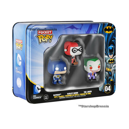 POP Batman Joker Figures Funko Pocket Tins #04 Harley Quinn Dc Comics