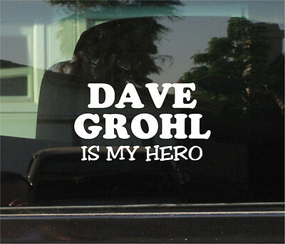 Nirvana Bumper Sticker car Queens Stoneage Dave Grohl VINYL DECAL Foo Fighters