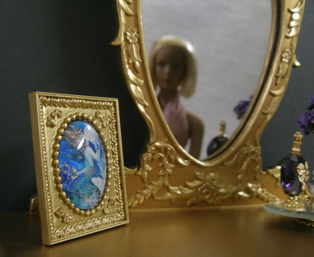 "TABLE  PICTURE ~ "" Art  Nouveau ""  for  TYLER  ~ 16: Doll ~ 1:4 scale ~ DIORAMA"