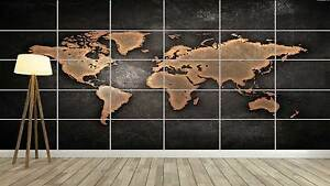 World map carte du monde design style xxl poster home deco salon image is loading world map world map poster xxl style design gumiabroncs Choice Image