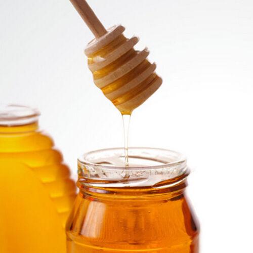 2x en bois de miel de plongeur cuillère à trempette en bois 145mm ServBB