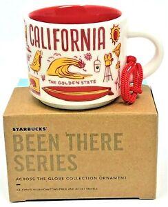 BNIB Starbucks CALIFORNIA Mug Ornament 2 oz Been There Series Shot Mini