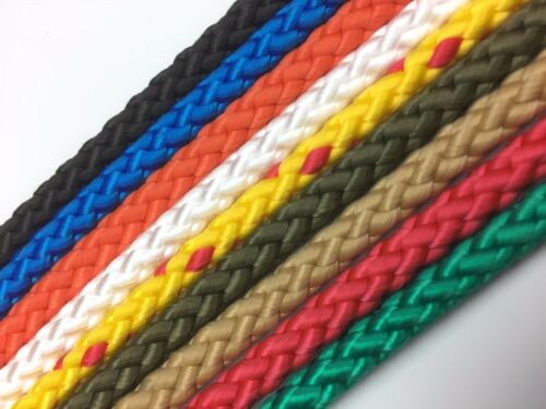 12mm Braided Polypropylene Poly Rope Cord Paracord Drawstring Choose Your Length