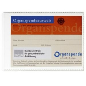 Durable Scheckkartenhü<wbr/>lle, DIN A7, transparent Ausweishülle PP Folie Schutzhülle