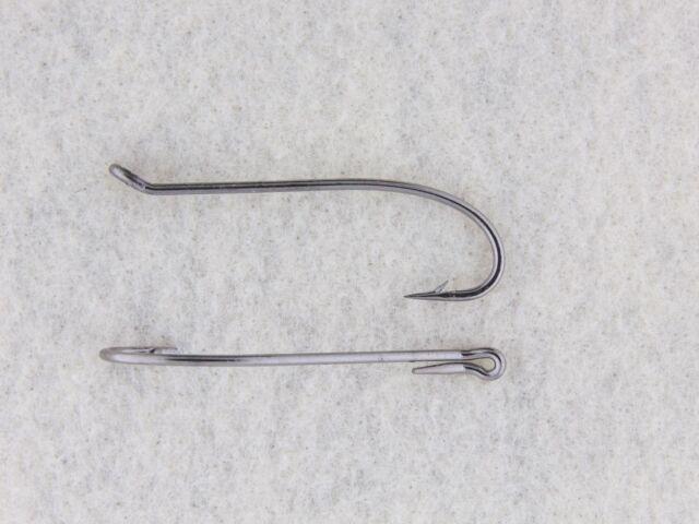 2X Heavy Wire 7999 QTY 50 Size 1//0 Classic Salmon Steelhead Fly Tying Hooks