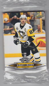 2017-Upper-Deck-Stanley-Cup-Champions-Penguins-Sealed-Set-18-Card-Sidney-Crosby