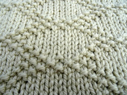 Easy knitting pattern baby blanket super chunky Snuggled In
