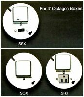 Bussmann Box Cover Unit Ssx For Plug Fuses 4 Octagon 15a 125v Old Stock