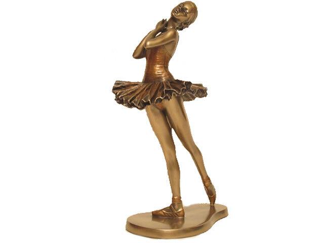 Ballett Figur Body Talk  Ballance Tänzerin mit Kalt Bronze überzogen - 20412 E