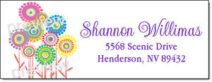 FLOWER POWER PATCH #161 LASER RETURN ADDRESS LABELS