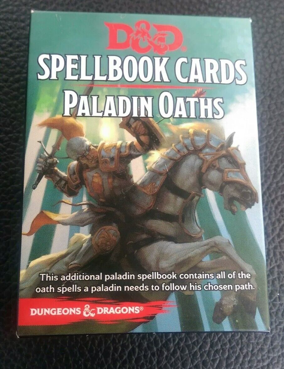 Dungeons & Dragons D&D Paladin Oaths Spellbook Cards Gale Force 9 Rare Excellent