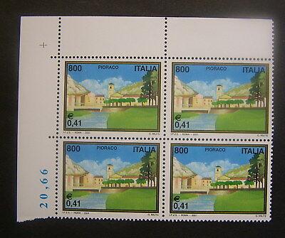 2001 Italien Pioraco Vierzeiler 800 Livre Mnh Hoher Standard In QualitäT Und Hygiene Europa