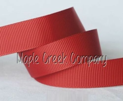 """3yd of Red 3//8/"""" Grosgrain Ribbon 3//8/"""" x 3 yards neatly wound"""