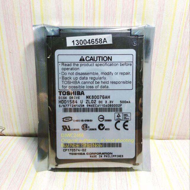 """HDD1764 CE HDD Toshiba MK8009GAH 80GB Internal 4200RPM 1.8/"""""""