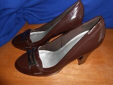 Womens high wide heel shoes pumps size 8M, CL By Laundry, buckle, Blueribbon