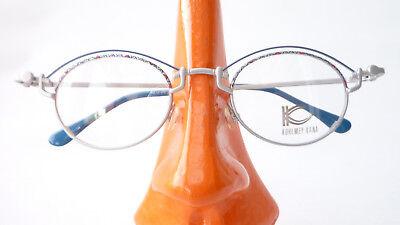 Frecher Eyecatcher Metall Brille Neu Oval Blau Silber Damen Mädchenbrille Gr M Dauerhafte Modellierung Augenoptik Kleidung & Accessoires