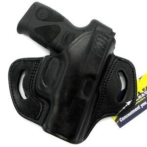 Details about TAGUA RH OWB Open Top Black Leather Belt Holster for TAURUS  MILLENNIUM G2 G2C