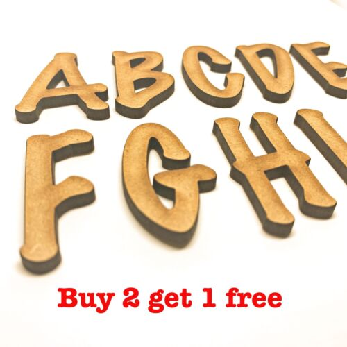 Wooden Letters Large Small 2cm 20cm Wall Hanging Letters Craft Scrapbook