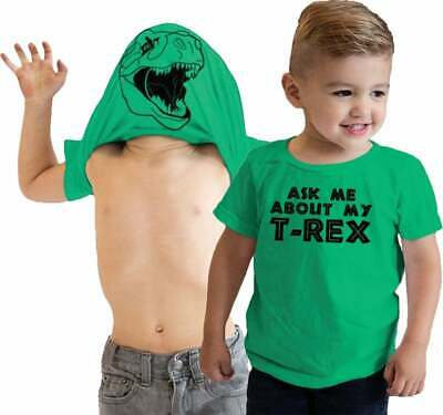 Funny childrens dinosaur cool Kids Ask Me About My Indominus Rex Flip T-Shirt