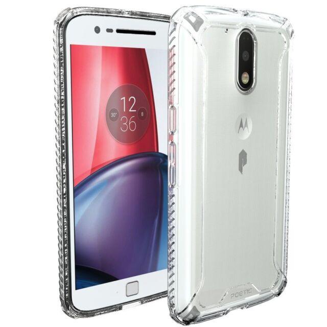 best service 92d31 e717a Poetic Motorola Moto G4 / G4 Plus Case Affinity Shockproof Bumper Cover  Clear