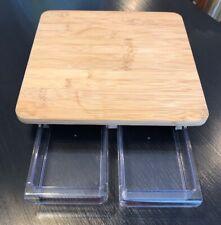 CB44800 Home Basics 14.25 x 9.87  Angled Bamboo Cutting and Prep Board Natural