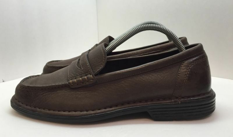 Rockport Mens Brown 8 Leather Loafers Shoe Size 8 Brown 2622e8