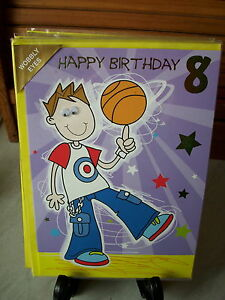 Image Is Loading 8 Year Old Birthday Cards