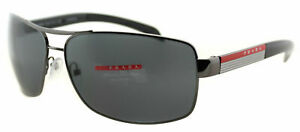 2e9e149879 New Prada Linea Rossa PS 54IS 5AV5Z1 Gunmetal Sunglasses Grey ...